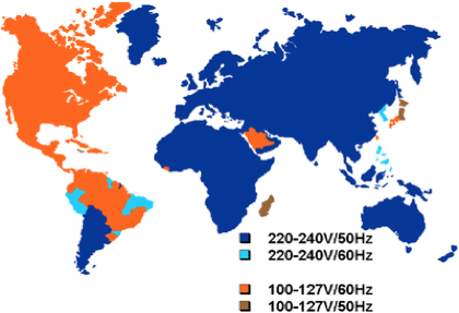 Frequency Converter - World Map - World Power Listings